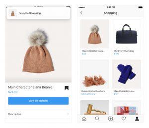 Instagram créé une collection dédiée au Shopping