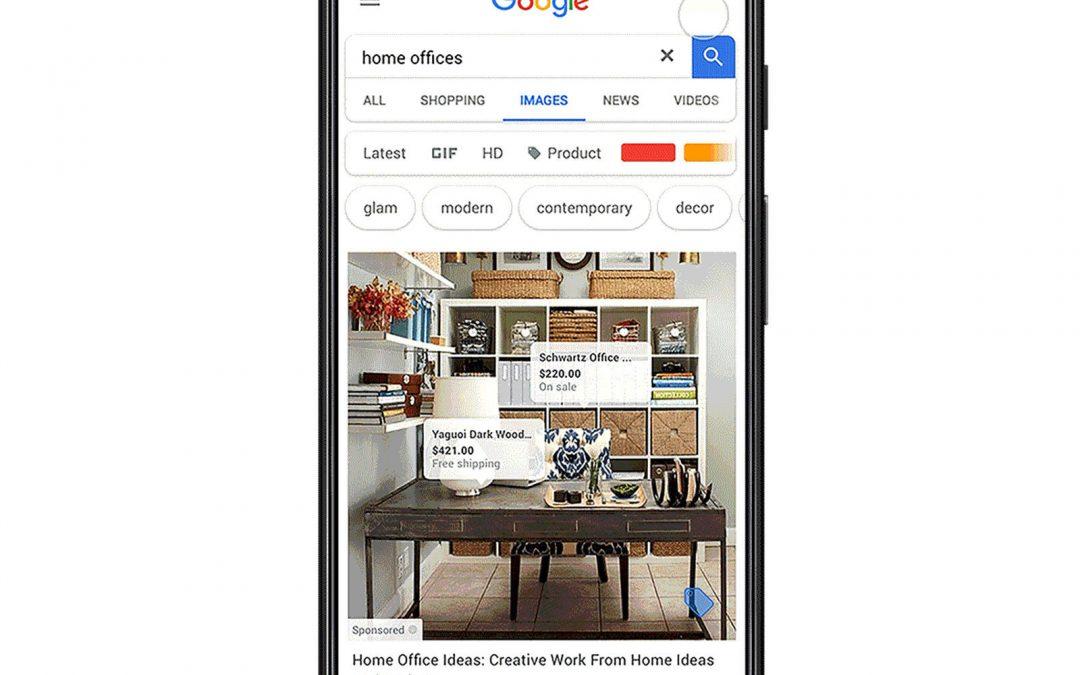 """La publicité arrive sur Google Images avec les """"shoppable ads"""""""